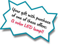 Your gift with purchase of one of these offers: A color LED lamp!!
